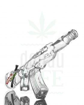 aus Glas Maschinengewehr Bong 'Zombie Chaser' | 48 cm