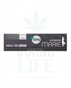 Headshop MARIE King Size Slim Rolling Papers + Tips | 32 Blatt