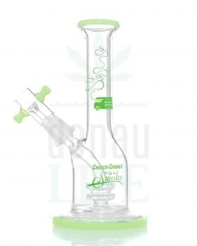 Bong Shop CHEECH & CHONG Bubbler mit Trommel Perc 18 cm | grün