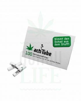 Headshop ACTITUBE Aktivkohlefilter 100 Stück | Regular