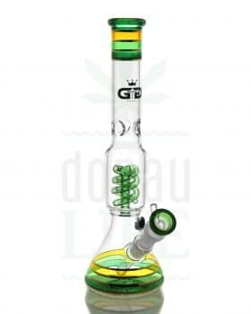 Beaker Bongs GRACE GLASS Percolator Bong 'Highmacher' mit Spiralperc | 35 cm