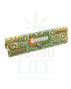 Headshop GREENGO Kingsize Papers 'The Natural' ungebleicht | 33 Blatt