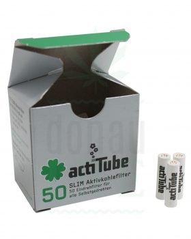 actiTube ACTITUBE Slim Aktivkohlefilter 50 Stück