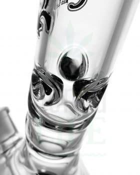 aus Glas BLACK LEAF Eisbong 'Black & White' mit 6-Schlitz-Diffusor | 35 cm
