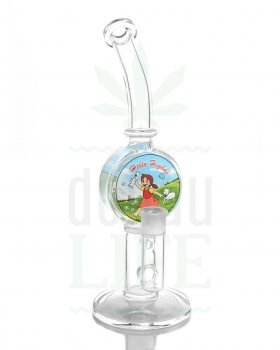 Bong Shop BLACK LEAF Glasbong 'Hello Highdi' mit Honeycomb | 32 cm