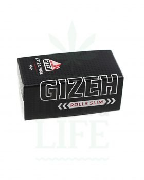 Headshop GIZEH Black Slim Ultrafine Rolls  | 5 m