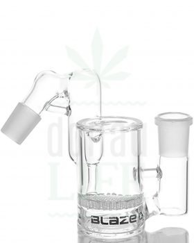 18,8 mm BLAZE GLASS Vorkühler 'Beecool' klar + Rec 45° | 18,8>18,8mm