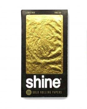 Geschenkideen SHINE 24K Gold King Size Rolling Paper | 1er/6er Pack