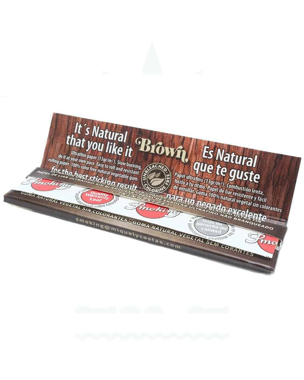Beliebte Marken SMOKING 'Brown' King Size Papers    33 Blatt