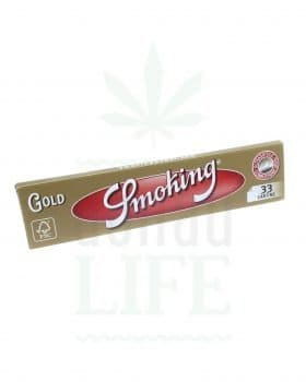 Beliebte Marken SMOKING Papers 'Gold' King Size | 33 Blättchen