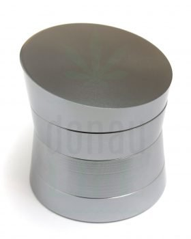 Grinder Aluminium Grinder 'A-Symetric' grau | 4-teilig