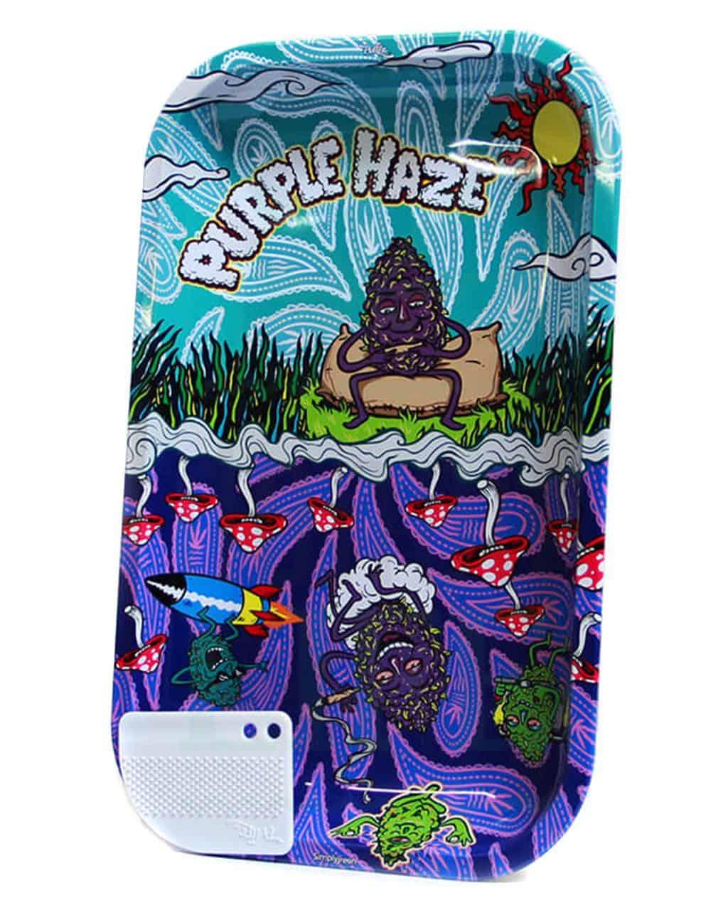 aus Metall BEST BUDS Rolling Tray 'Purple Haze' |  verschiedene Größen