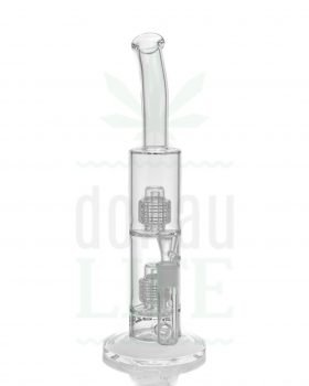 aus Glas BLAZE GLASS Bubbler Bong 'Double Drum' | 38,5 cm