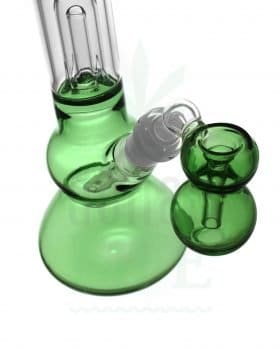Beaker Bongs BLACK LEAF Percolator Bong 'Green Fly' | Ashcatcher