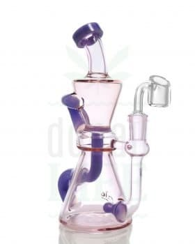 Bong Shop BLAZE GLASS Recycler 'Ultraviolet' | 19,5 cm