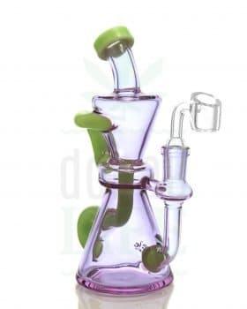 Blaze Glass BLAZE GLASS Recycler 'CRaZyGReeN' | 19,5 cm