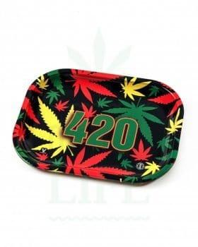 aus Metall V SYNDICATE Rolling Tray | '420 Rasta'