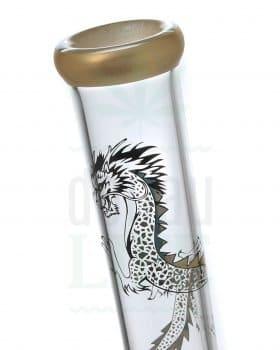 aus Glas BLACK LEAF Percolator Bong 'Gold Dragon' | inkl. Vorkühler