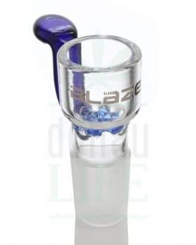 18,8 mm BLAZE GLASS Bongkopf mit Glassieb 'Blue Dream' | 18,8 mm