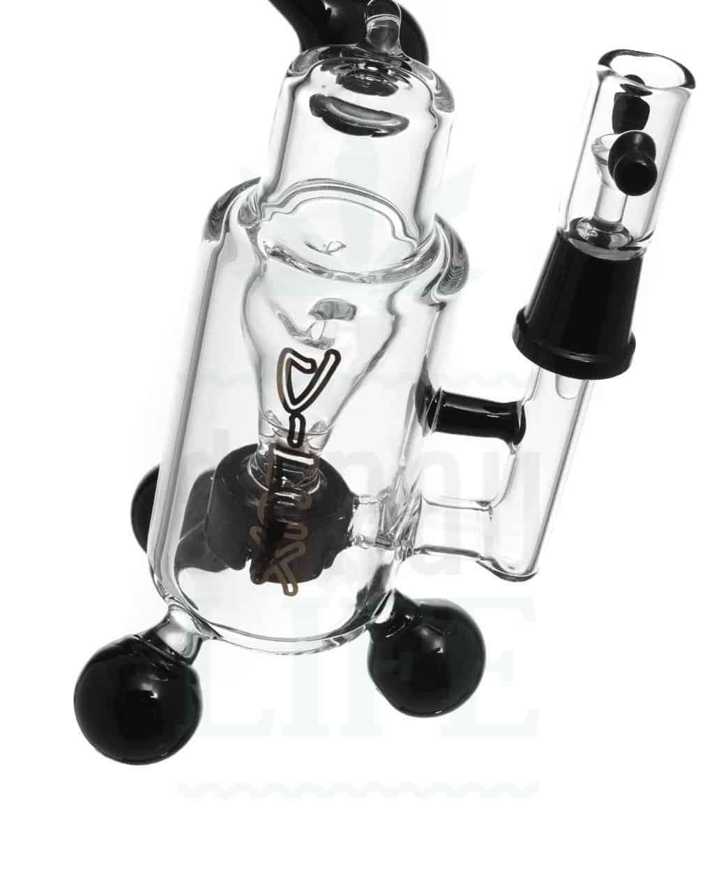 aus Glas D-LUX Bubbler 'Black Oil' | 19cm