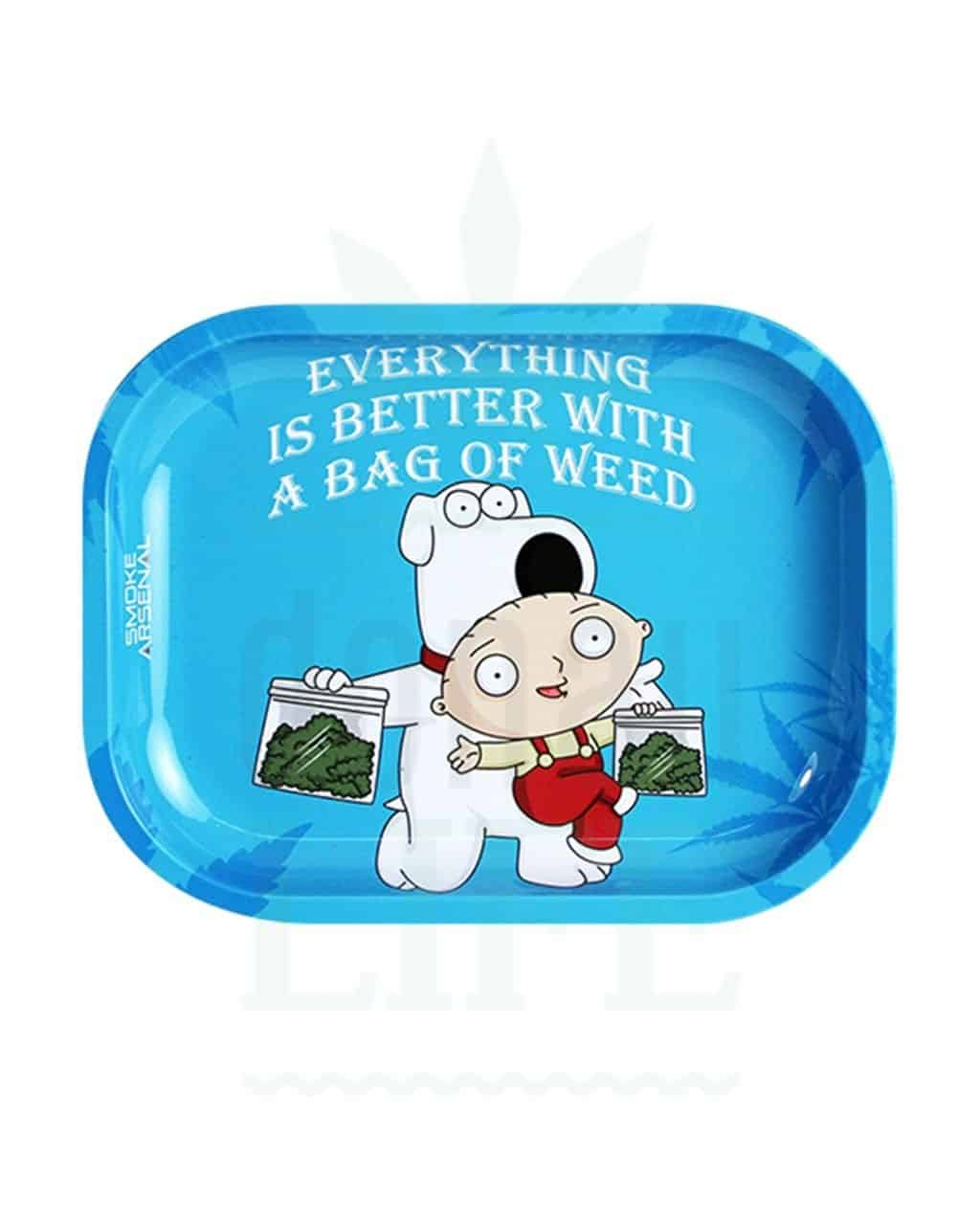 aus Metall SMOKE ARSENAL Rolling Tray   'Better with weed'