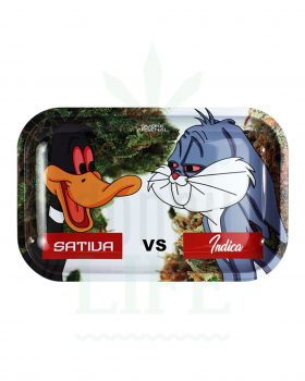 Mischschalen SMOKE ARSENAL Rolling Tray | 'Sativa VS Indica'