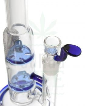 aus Glas BLACK LEAF Bong 'Double Turbine' | 25,5 cm