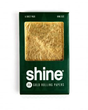 Headshop SHINE 24K Gold King Size Rolling Paper 6er Pack