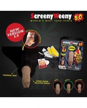 Beliebte Marken CLEAN U Screeny Weeny 5.0 weiss | Fake Penis