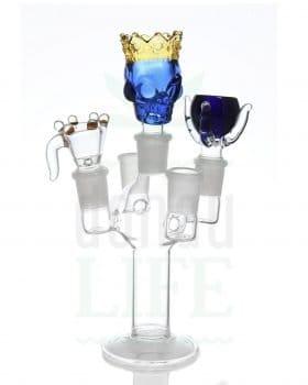 18,8 mm GRACE GLASS Bongkopfhalter Glas 'high5' | 18,8 mm
