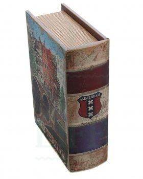 Aufbewahrung KAVATZA Stashboxbuch 'Amsterdam' mit Mischbrett