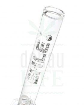 aus Glas EHLE Zylinderbong 'Black & White' | 36 cm