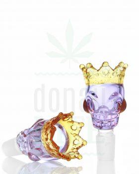 18,8 mm GRACE GLASS Siebkopf 'Skull King' violett | 18,8 mm