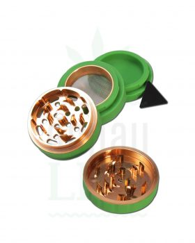 Grinder BLACK LEAF Silikon- Aluminium Grinder 'Silicon Valley' 4-teilig | Ø 63 mm