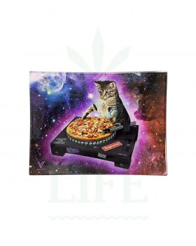 Mischschalen V SYNDICATE Glas Rolling Tray | 'Cat DJ'