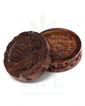 2-teilig Holz-Grinder 'Hempwave' aus Rosenholz 2-teilig | Ø 45 mm