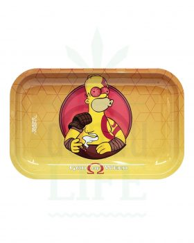 Mischschalen SMOKE ARSENAL Rolling Tray | 'God of Weed'