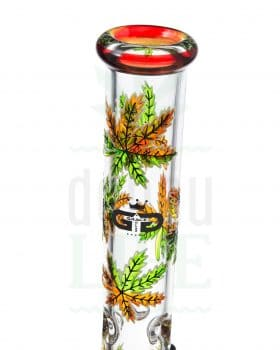 Beaker Bongs GRACE GLASS Crystal Series 'Herbstlaub' | 37 cm