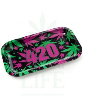 aus Metall V SYNDICATE Rolling Tray | '420 Leaf'