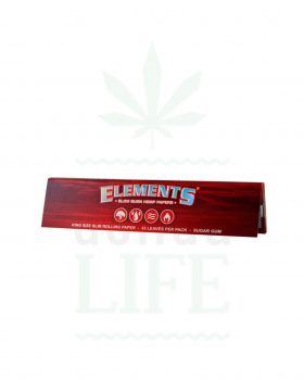 aus Hanf ELEMENTS 'Red' King Size Slim Hanfpaper | 33 Blatt