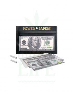 aus Hanf POWER PAPERS '100 US Dollar Schein' Paper Kingsize