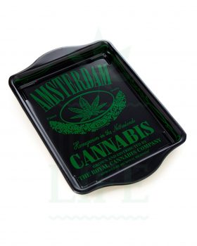 aus Metall Rolling Tray | 'Cannabis'