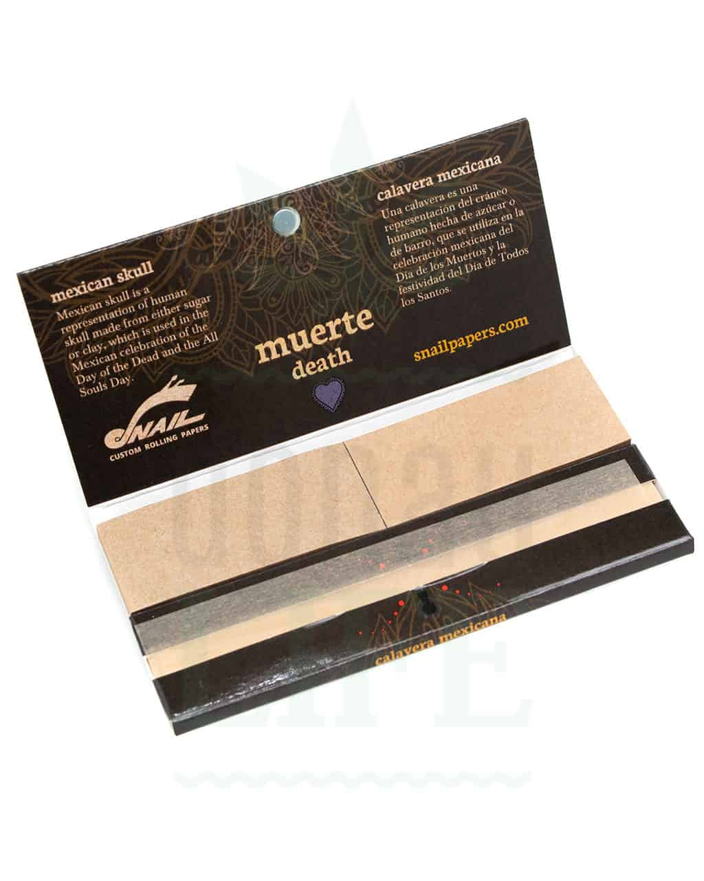 Beliebte Marken SNAIL Mexican Skull Rolling Papers + Tips