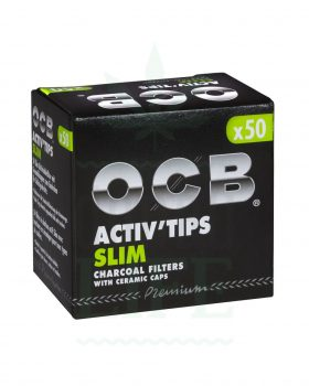 Aktivkohlefilter OCB Activ' Tips slim 7 mm | 10/50 Filter