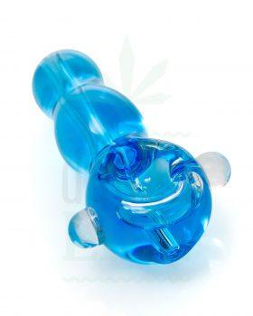 Glaspfeifen Glaspfeife 'Blue Sea' mit Kühlflüssigkeit