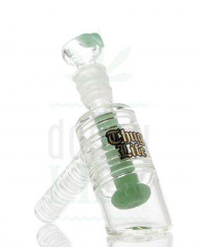 aus Glas THUG LIFE Hand Bubbler 'Green Rip' | 15 cm