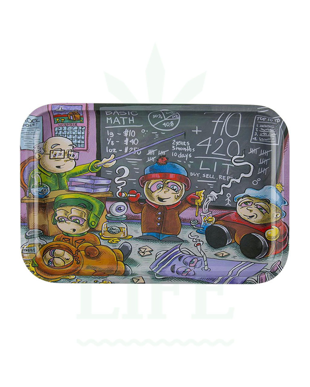 aus Metall Dunkees Rolling Tray | 'Life Lessons'