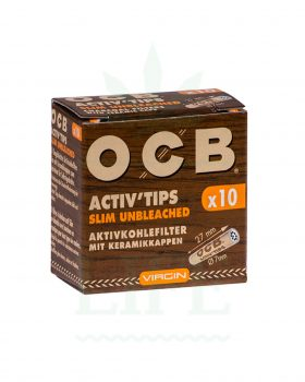 Aktivkohlefilter OCB Activ' Tips unbleached 7 mm | 10/50 Filter