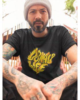 Fashion DONAULIFE T-Shirt 'smoke' | schwarz