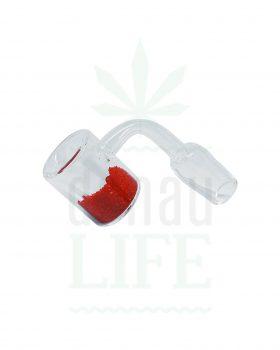 Dab Nails Quartz Thermal Banger rot | 18,8 mm männlich